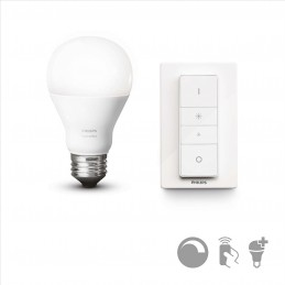 HUE WIRELESS DIMMING KIT LED žárovka E27 A60 White 9,5W + Dimmer Switch 8718696452523