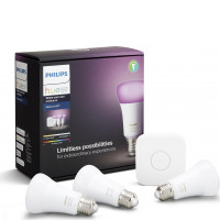 Hue Starter Kit White and Color Ambiance 3xE27 A19 10W + Bridge
